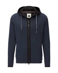 dunkelblauer Pullover mit einem Kapuze von Marc O'Polo