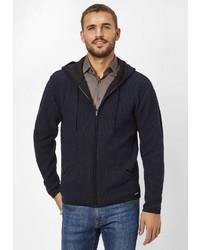 dunkelblauer Pullover mit einem Kapuze von S4 JACKETS