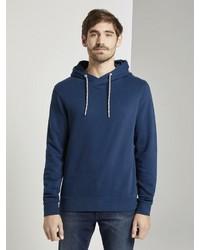 dunkelblauer Pullover mit einem Kapuze von Tom Tailor