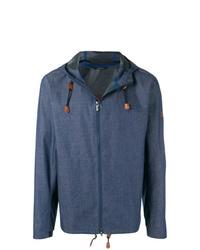 dunkelblauer Pullover mit einem Kapuze von Z Zegna