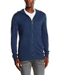 dunkelblauer Pullover mit einem Reißverschluss am Kragen von Calvin Klein