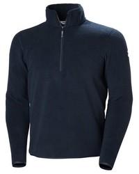 dunkelblauer Pullover mit einem Reißverschluss am Kragen von Helly Hansen