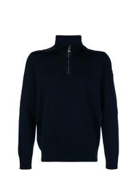 dunkelblauer Pullover mit einem Reißverschluss am Kragen von Paul & Shark