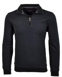 dunkelblauer Pullover mit einem Reißverschluss am Kragen von RAGMAN