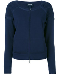 dunkelblauer Pullover mit einem Reißverschluß