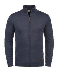 dunkelblauer Pullover mit einem Reißverschluß von BLEND