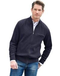 dunkelblauer Pullover mit einem Reißverschluß von CATAMARAN