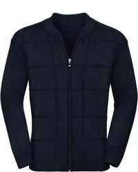 dunkelblauer Pullover mit einem Reißverschluß von Classic