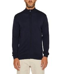 dunkelblauer Pullover mit einem Reißverschluß von Esprit