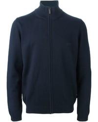 dunkelblauer Pullover mit einem Reißverschluß von Hugo Boss