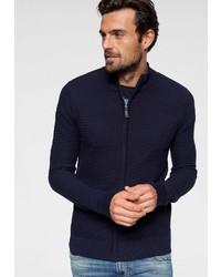 dunkelblauer Pullover mit einem Reißverschluß von Izod