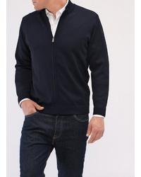 dunkelblauer Pullover mit einem Reißverschluß von MAERZ Muenchen