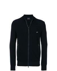 dunkelblauer Pullover mit einem Reißverschluß von Paul & Shark
