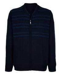 dunkelblauer Pullover mit einem Reißverschluß von ROGER KENT