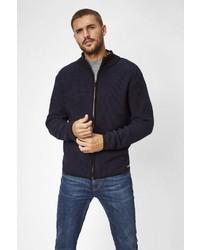 dunkelblauer Pullover mit einem Reißverschluß von S4 JACKETS