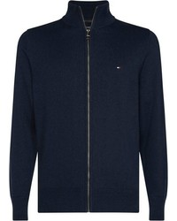 dunkelblauer Pullover mit einem Reißverschluß von Tommy Hilfiger
