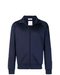 dunkelblauer Pullover mit einem Reißverschluß von Valentino