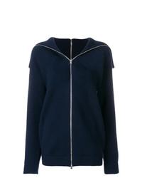 dunkelblauer Pullover mit einem Reißverschluß von Victoria Beckham