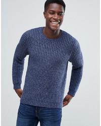 dunkelblauer Pullover mit einem Rundhalsausschnitt von ASOS DESIGN