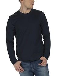 dunkelblauer Pullover mit einem Rundhalsausschnitt von Bench