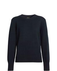 dunkelblauer Pullover mit einem Rundhalsausschnitt von Burberry