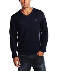 dunkelblauer Pullover mit einem Rundhalsausschnitt von Crew Clothing
