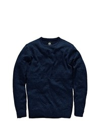dunkelblauer Pullover mit einem Rundhalsausschnitt von Dickies