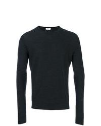 dunkelblauer Pullover mit einem Rundhalsausschnitt von Fashion Clinic Timeless