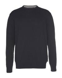 dunkelblauer Pullover mit einem Rundhalsausschnitt von JACK'S