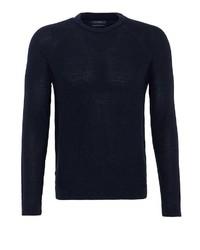 dunkelblauer Pullover mit einem Rundhalsausschnitt von Lufian