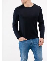 dunkelblauer Pullover mit einem Rundhalsausschnitt von MAERZ Muenchen
