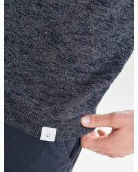 dunkelblauer Pullover mit einem Rundhalsausschnitt von ONLY & SONS