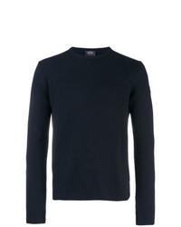 dunkelblauer Pullover mit einem Rundhalsausschnitt von Paul & Shark