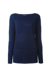 dunkelblauer Pullover mit einem Rundhalsausschnitt von Ralph Lauren