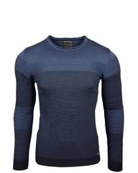 dunkelblauer Pullover mit einem Rundhalsausschnitt von RUSTY NEAL