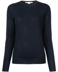 dunkelblauer Pullover mit einem Rundhalsausschnitt von Stella McCartney