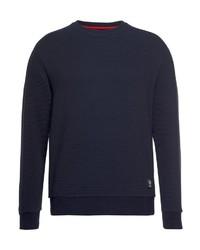 dunkelblauer Pullover mit einem Rundhalsausschnitt von Strellson