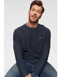 dunkelblauer Pullover mit einem Rundhalsausschnitt von Tommy Jeans