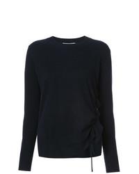 dunkelblauer Pullover mit einem Rundhalsausschnitt von Vince