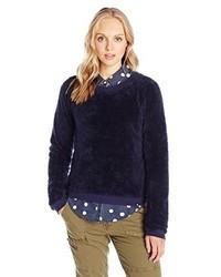 dunkelblauer Pullover mit einem Rundhalsausschnitt von Volcom