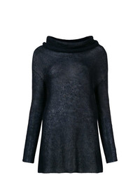 dunkelblauer Pullover mit einem Schalkragen von Antonelli