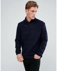 dunkelblauer Pullover mit einem Schalkragen von Bellfield
