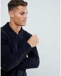 dunkelblauer Pullover mit einem Schalkragen von French Connection
