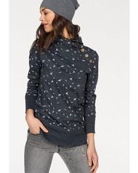 dunkelblauer Pullover mit einem Schalkragen von NAVIGAZIONE BLU