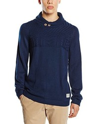 dunkelblauer Pullover mit einem Schalkragen von Tom Tailor Denim