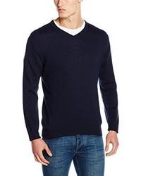 dunkelblauer Pullover mit einem V-Ausschnitt von Scalpers