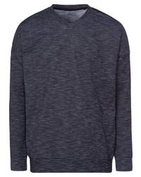 dunkelblauer Pullover mit einem V-Ausschnitt von Schiesser