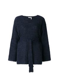 dunkelblauer Pullover mit einem V-Ausschnitt von See by Chloe