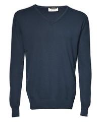 dunkelblauer Pullover mit einem V-Ausschnitt von Signum
