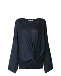 dunkelblauer Pullover mit einem V-Ausschnitt von Stella McCartney